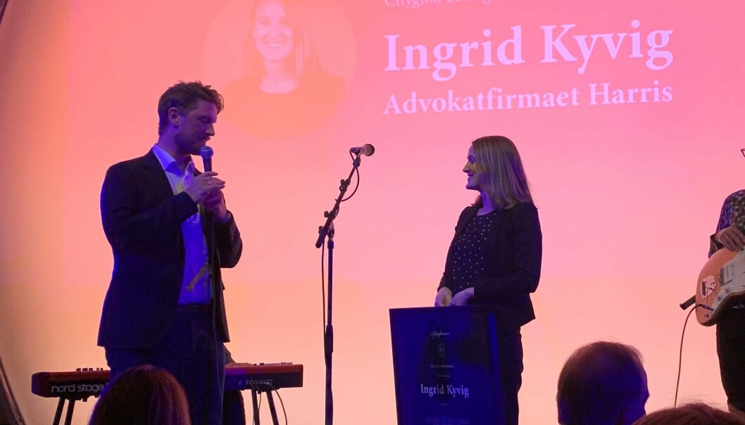 Ingrid Kyvig mottar Cityglød-prisen på Bergen Citykonferanse