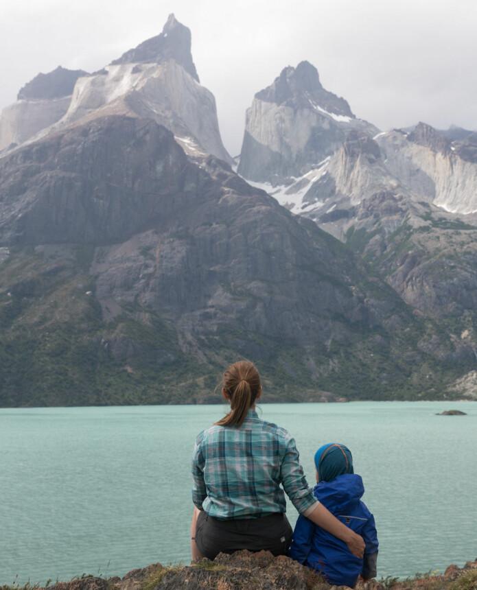 Jenny og familien tilbringer mye kvalitetstid i Lofoten. Foto: Privat