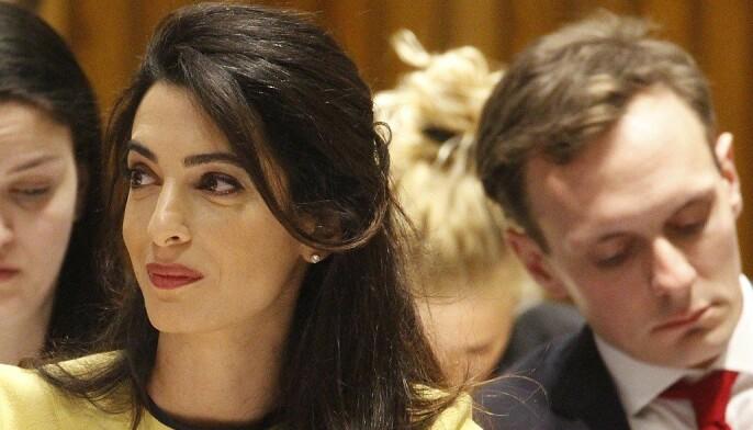 Amal Clooney er Birtes favoritt-advokat-kjendis. Clooney er advokat og menneskerettighetsekspert, og har blant annet representert Wikileaks-grunnleggeren Julian Assange, og tidligere statsminister i Ukraina, Julija Tymosjenko, og har jobbet med søksmål mot flere stater, deriblant Tyrkia og Filippinene. Foto: Wikimedia / UK Mission to the UN