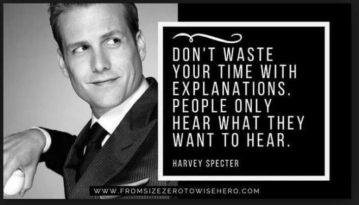 Harvey Specter er Veronica Drivstens favoritt-advokat-kjendis. Specter, (spilt av Gabriel Macht) er hovedrolleinnehaver i advokatserien Suits. Skjermdump fra artikkelen 31 Harvey Specter Quotes for Entrepreneurs, www.fromsizezerotowisehero.com