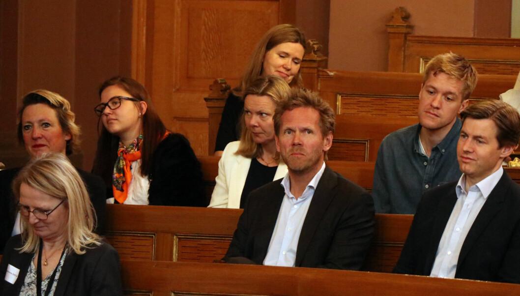 Regjeringsadvokat Fredrik Sejersted var blant de mange som tok ordet under seminaret.