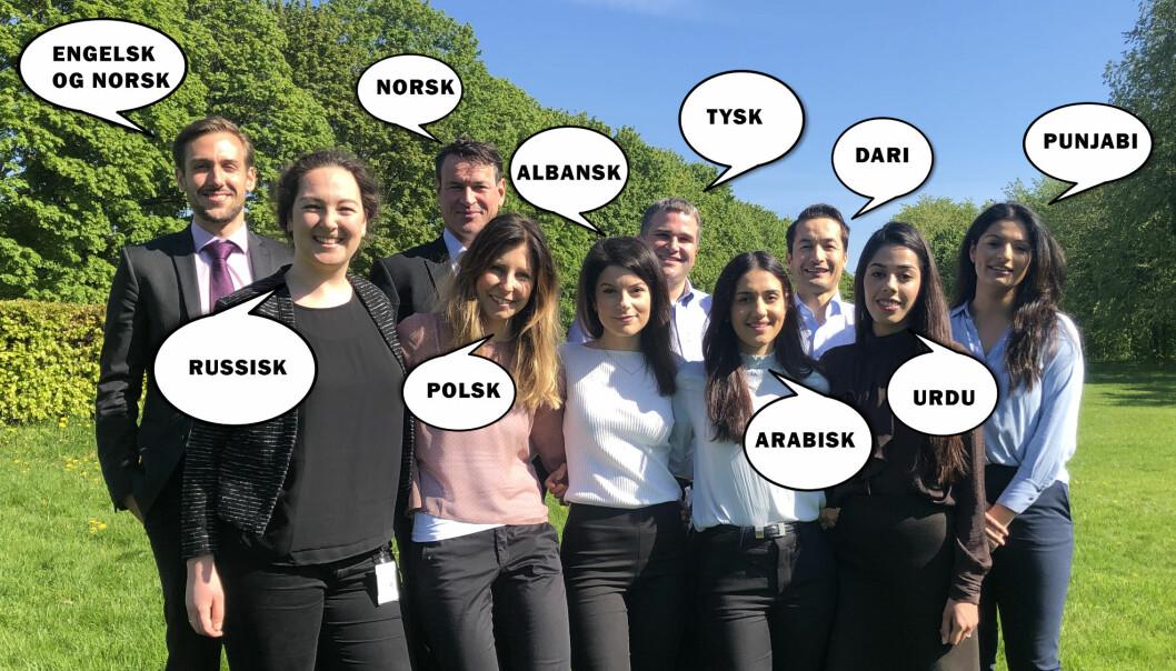 I Help snakkes det hele 22 forskjellige morsmål, når alle yrkesgruppene inkluderes, forteller Help-sjef Johan Dolven. Her får du møte ti av dem.