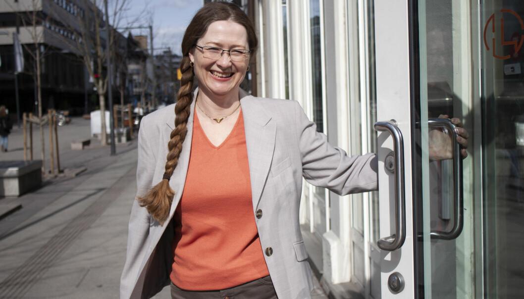 - Rettsinfo er den største juridiske databasen av sitt slag, tror daglig leder og gründer bak det digitale biblioteket, Susanne Mysen. Foto: Gunn Brennhaugen.