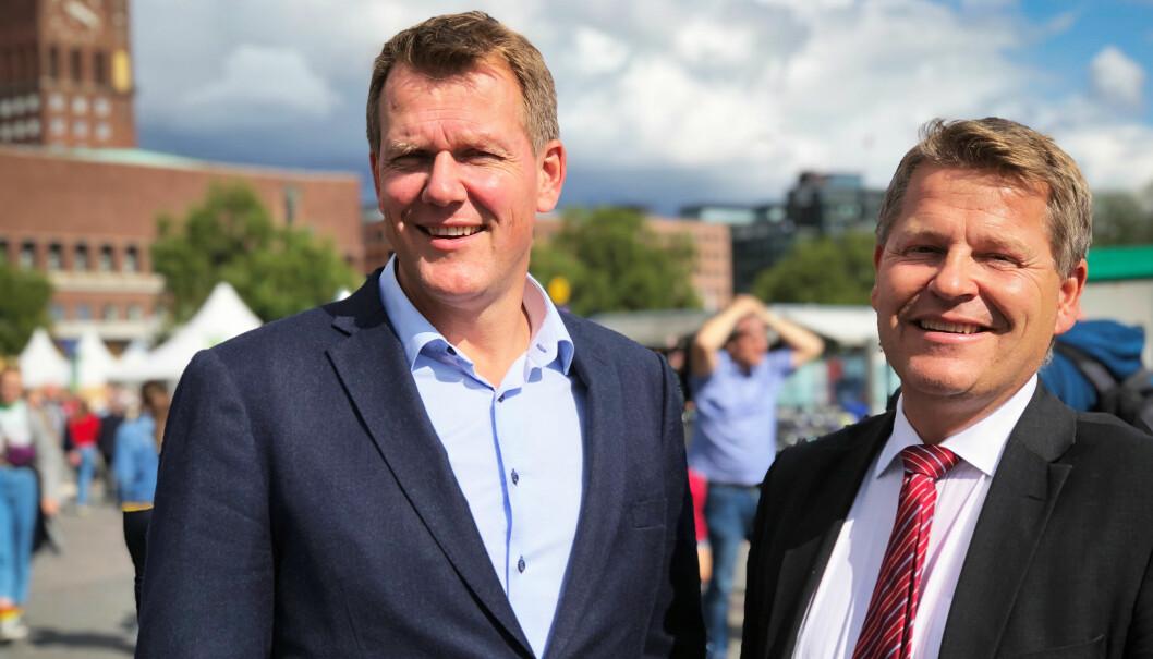 – Vårt inntrykk er at de aller fleste advokater i Norge klarer å holde seg godt på rette side av hva som er advokatetisk riktig når de ferdes på sosiale medier, sier Johnny Johansen og Ronny Lund.