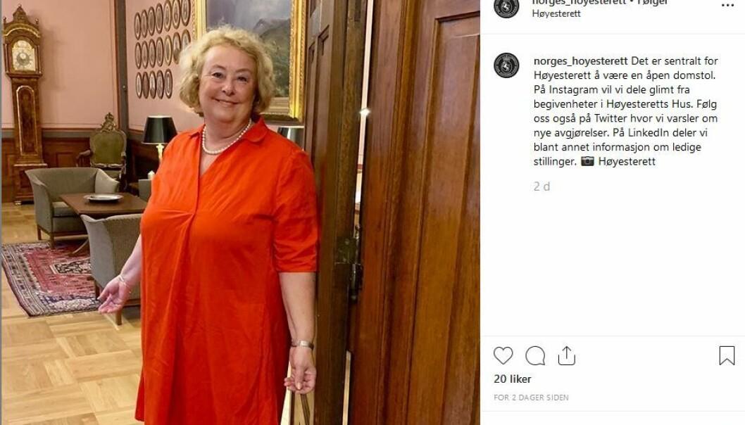 Dette er Høyesteretts aller første instagram-post.