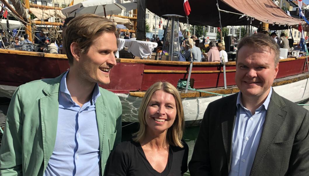 Miljøtrenden har også nådd advokatbransjen, forteller fra v. Mikkel Østhagen Hamar, Helene Vestergaard Larsen og Ove Vanebo i Kluge.