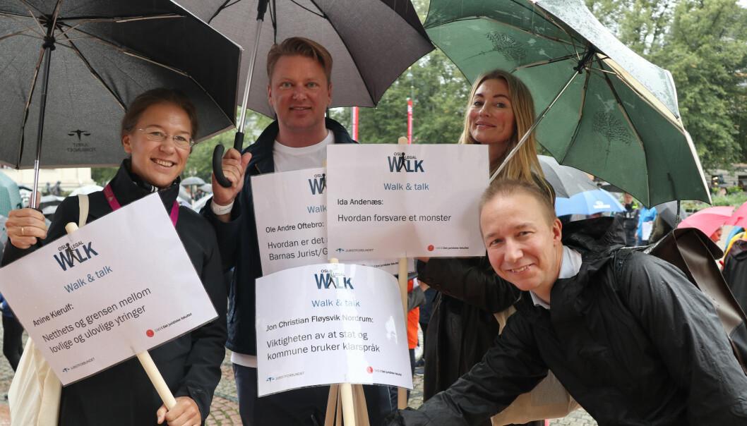 Anine Kierulf, Ole André Oftebro, Ida Andenæs og Jon Christian Fløysvik Nordrum ledet an i marsjen fra Universitetsplassen i Oslo.