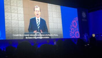 Sør Koreas president Moon Jae-In ønsket advokatene velkommen til landet.