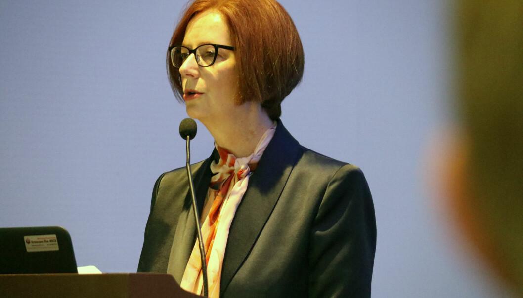 Tidligere statsminister i Australia, Julie Gillard er nå tilbake i virket som advokat.