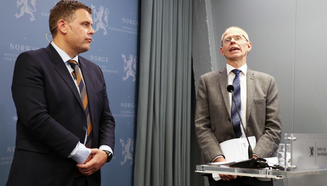 For ett år siden la sorenskriver og kommisjonsleder Yngve Svendsen frem første delrapport for daværende justisiminister Jøran Kallmyr (Frp).