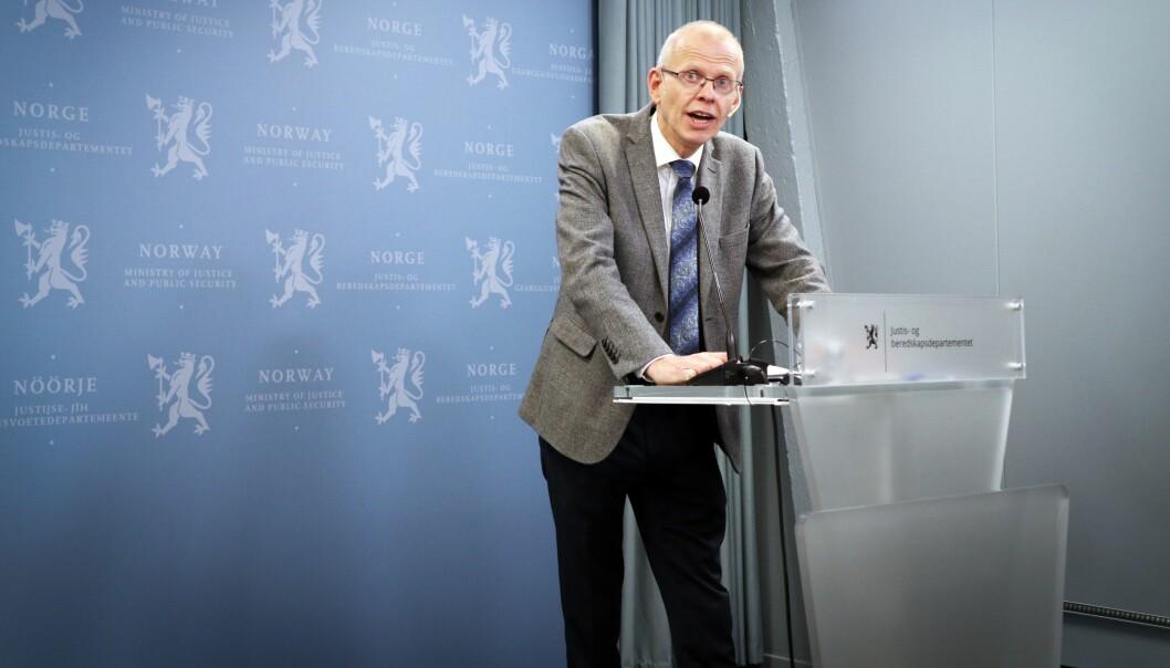 Sorenskriver i Oslo, Yngve Svendsen, leder Domstolkommisjonens arbeid.