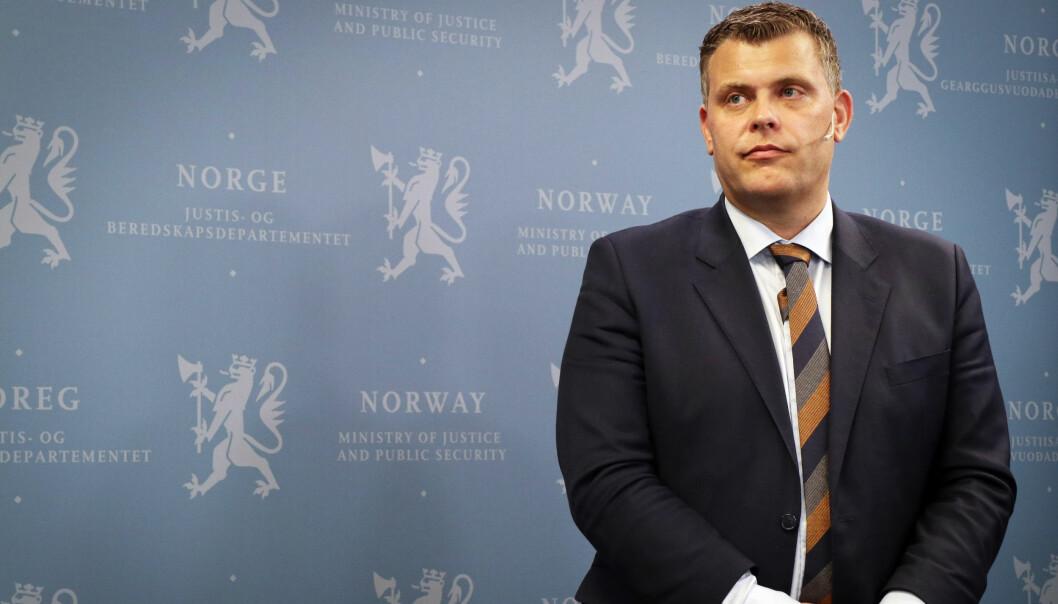 Justis- og innvandringsminister, Jøran Kallmyr. Foto: Thea N. Dahl
