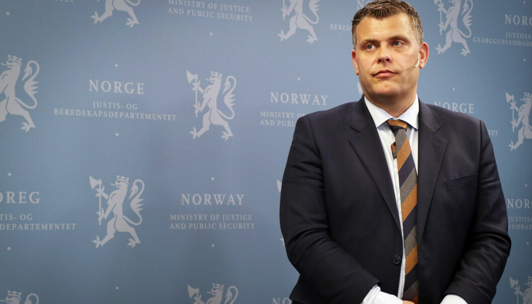 Justis- og innvandringsminister Jøran Kallmyr.
