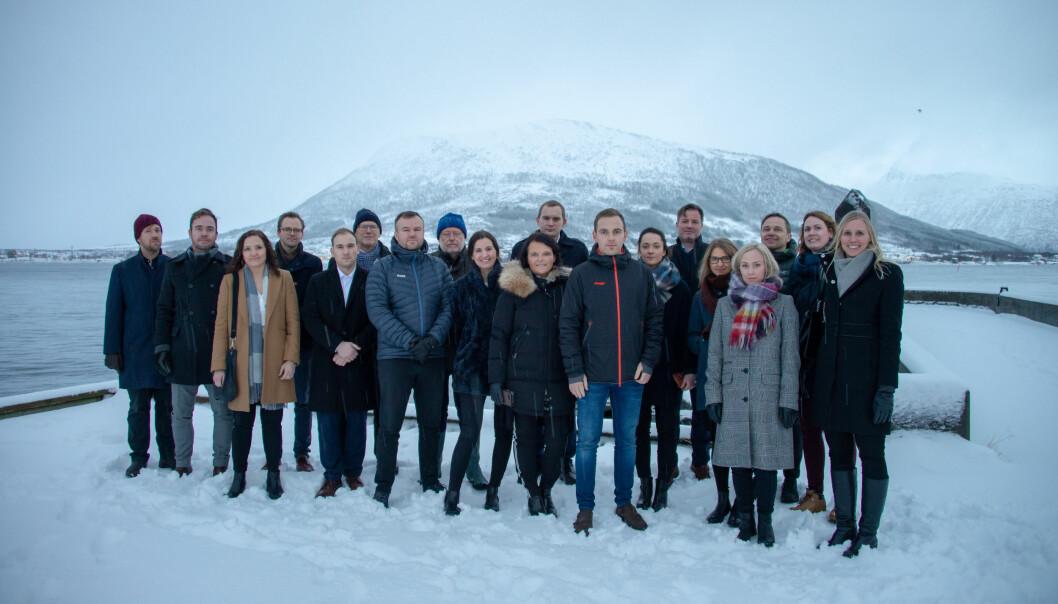 Advokatbladet besøkte Sortland i januar, der advokater og jurister sammen kjempet for å beholde sin lokale domstol. Trude Marie Wold i sort jakke foran. Foto: Marius Birkeland