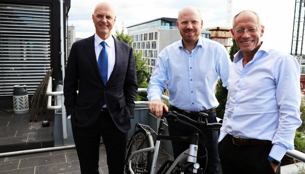 Anders Ryssdal, Aron Solheim og Nils-Henrik Pettersson har god grunn til å smile.