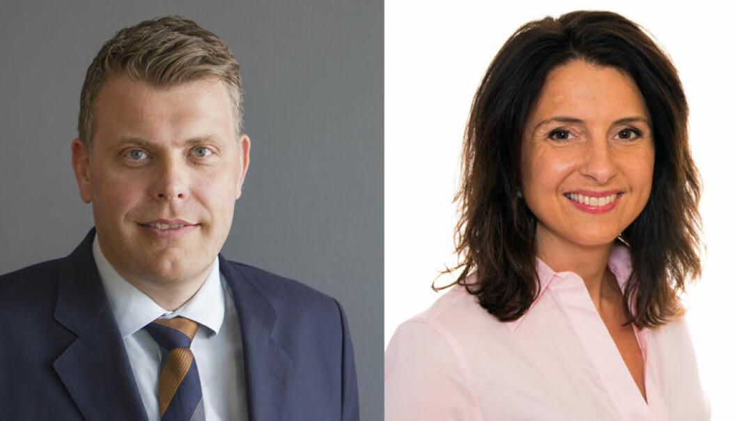 Justisminister Jøran Kallmyr (Frp) og nestleder av justiskomiteen, Jenny Klinge (Sp). Foto: Justis- og beredskapsdepartementet/Stortinget