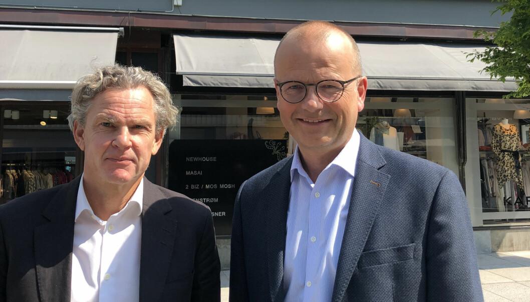 Rekordvekst: Knut H. Strømme og Aksel Haraldsen i HBL advokatfirma i Tønsberg er det firmaet som vokste mest i Norge i fjor.