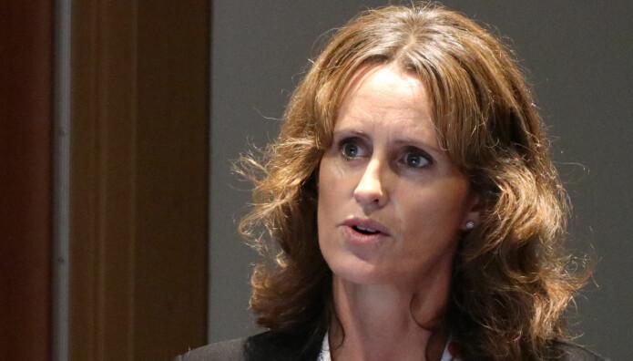 Vinge-partner Cecilia Möller Norsted fra Vinge pratet om åpent landskap på årets IBA-konferanse.