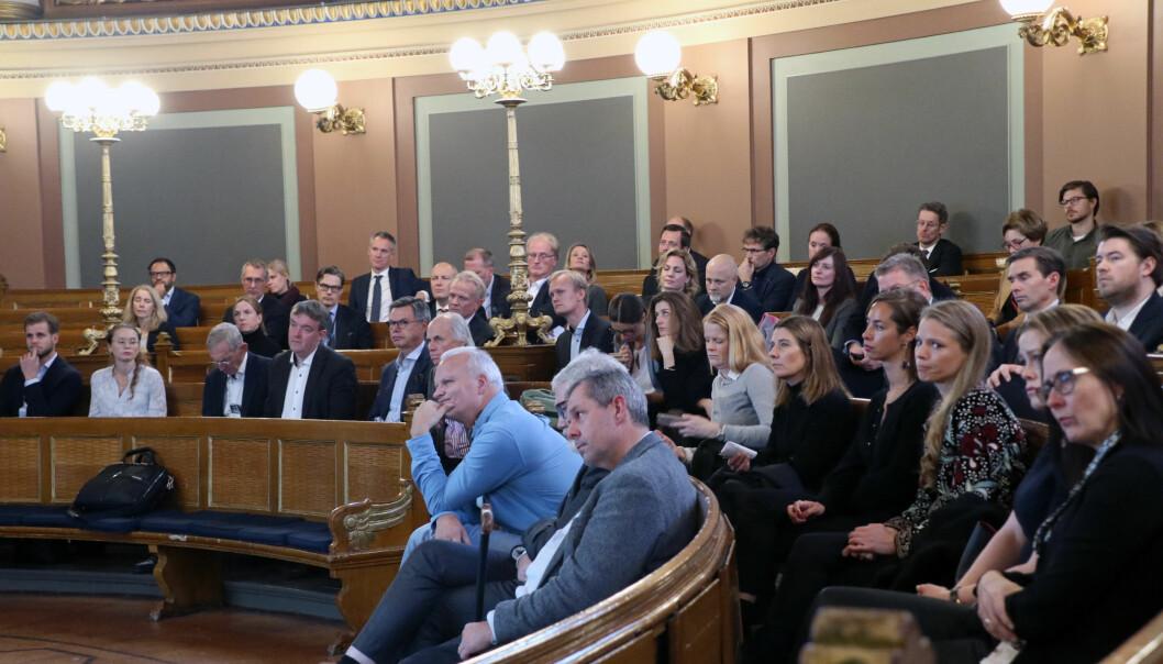 Både akademikere, forretningsadvokater og studenter var tilstede under åpningen av det nye senteret i Oslo onsdag ettermiddag.