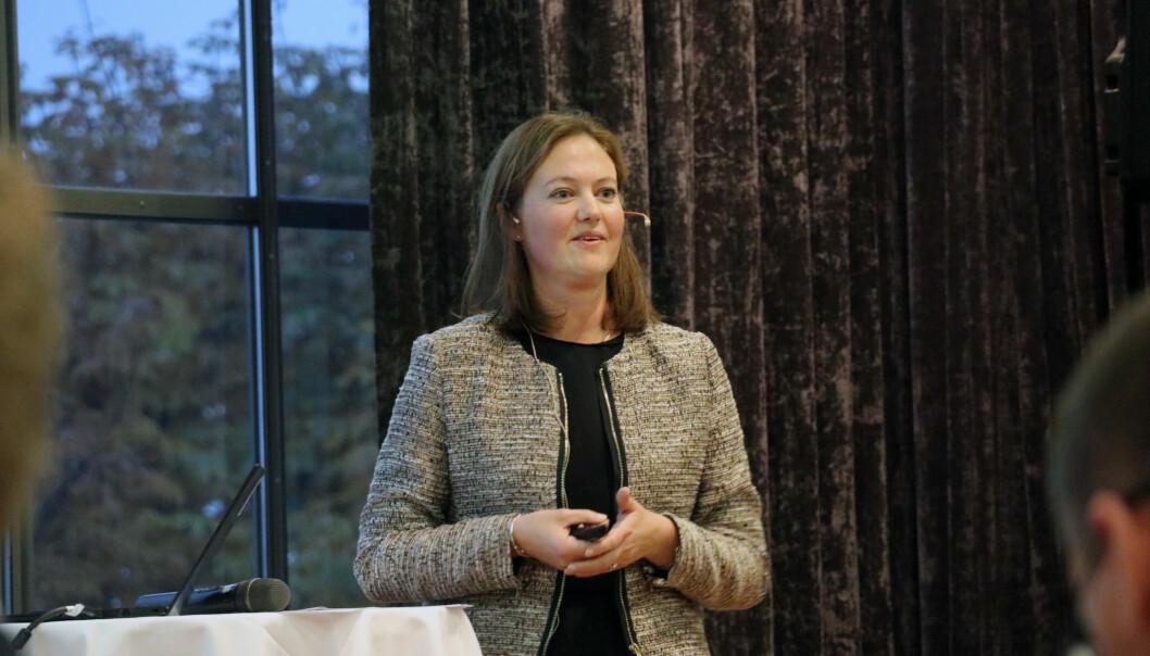 Marit Berger Røsland fra Equnor delte sine erfaringer fra sitt ståsted som klient under Den store firmadagen.