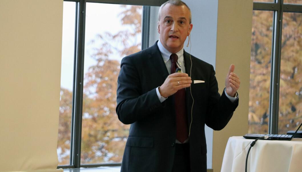 Juridisk direktør Christian Karde fra Kongsberg Gruppen.