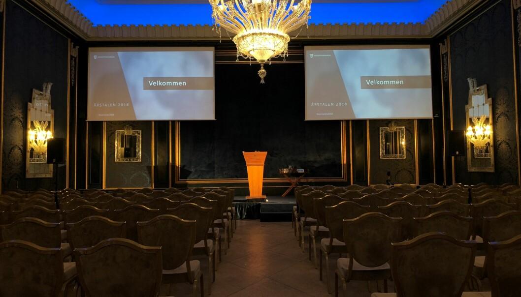 Advokatforeningen inviterer hver høst politikere, samfunnstopper, og advokater til årstalen på Grand hotell i Oslo.
