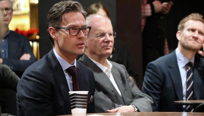 Wikborg Rein-partner Kaare Shetelig var blant advokatene som tok ordet i debatten.