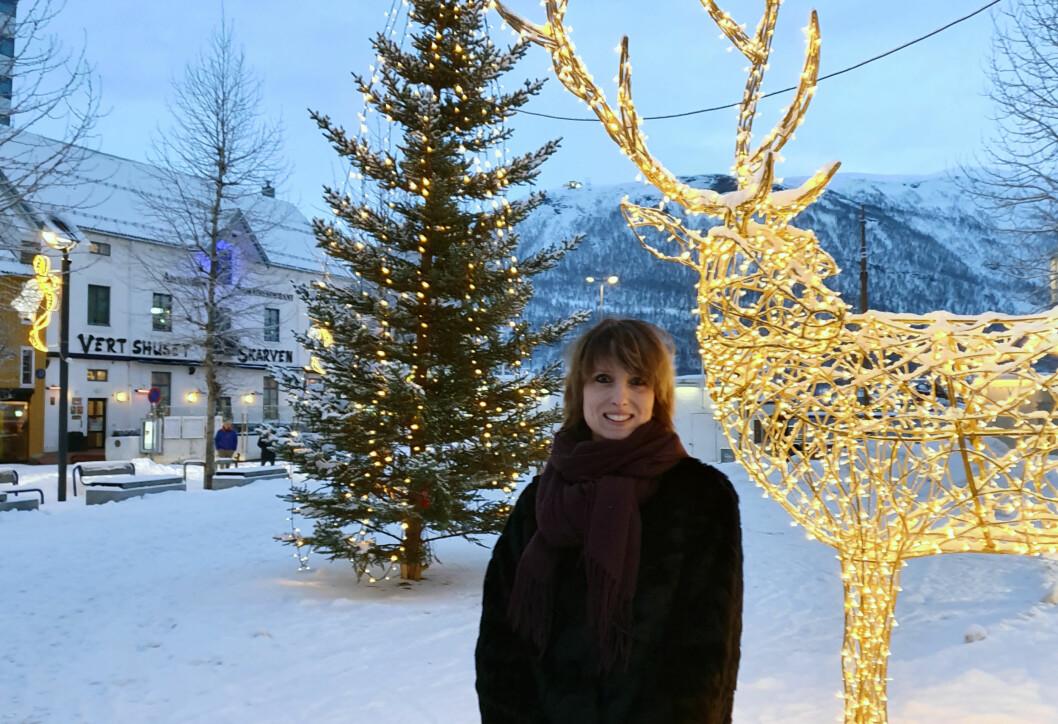Tromsø-advokat Anneli Bendiksen får rikelig med julestemning i hjembyen.