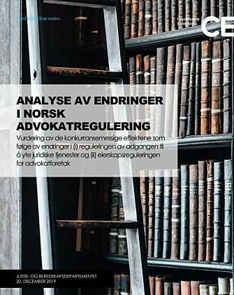 Det danske analyseselskapet Copenhagen Economics rapport.