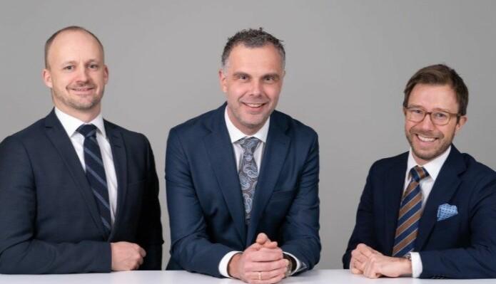 Finn Magne Prydz, Kristian Brandt og Eivind Grimsø Moe.