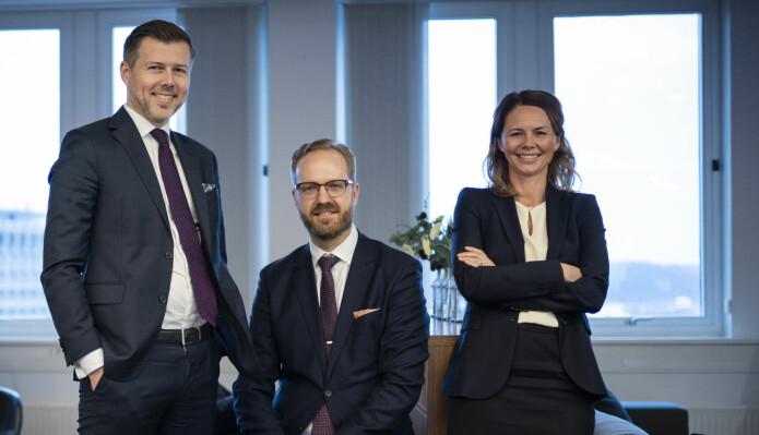 Hans Christian Donjem, Simen Klevstrand og Anne Hesjedal Sending er oppnevnt som partnere i Haavind fra og med nyttår.