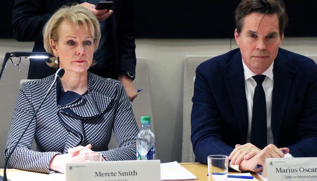 - I statsbudsjettet for 2020 får domstolene – som er den tredje statsmakt – bevilget under halvparten av det NRK får – som er en del av den fjerde statsmakt, påpekte Advokatforeningens generalsekretær Merete Smith i ettermiddagens høring på Stortinget.
