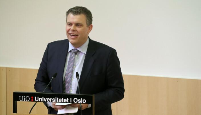 Jøran Kallmyr talte under åpningsarrangementet torsdag