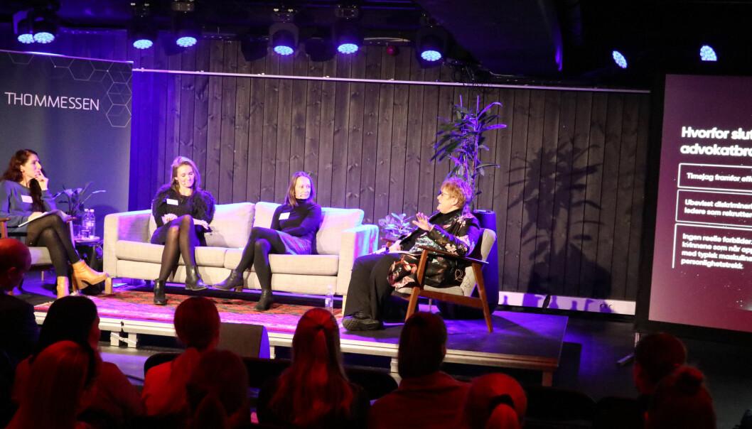 Lise Klaveness, Maria Ervik Løvold, Marianne Brynjulfsen Overaa og Trine Skei Grande satt i panelet.