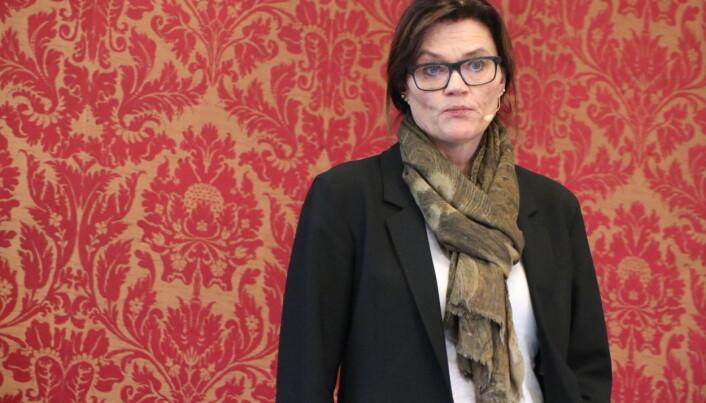 Anne Marie Due fra Hjort pratet om utvalgskrets ved nedbemanning.