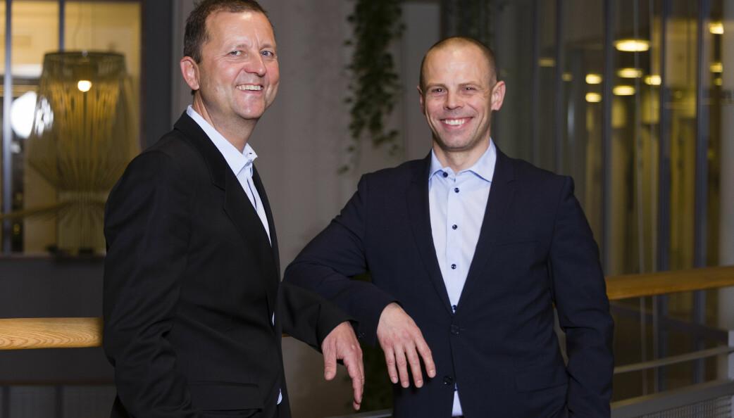 Help-sjef Johan Dolven og viseadministrerende direktør Tore Strandbakken er glade for at Copenhagen Economics konkluderer med at innstramninger av eierstrukturen i advokatbransjen ikke er hensiktsmessig.