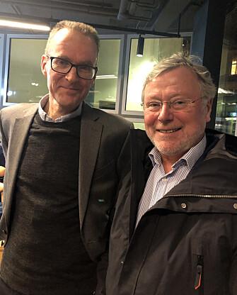 Professor Gunnar Grendstad og leder av Dommerforeningen, Wiggo Storhaug Larssen.