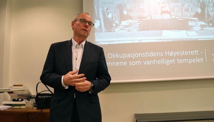 Hans Petter Graver pratet om nazivennlige dommere under andre verdenskrig.