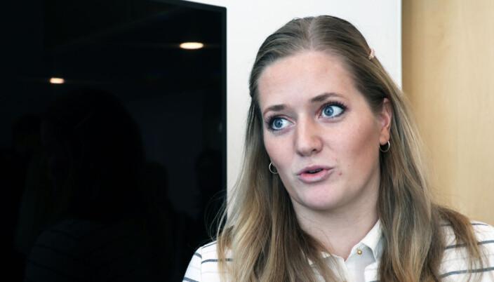 Senterpartiets Emilie Enger Mehl er svært kritisk til domstolsreformen. Hun deltar ikke i Sps valgkamp fordi hun er med på TV-innspilling av Kompani Lauritzen, som vises på TV våren 2022.