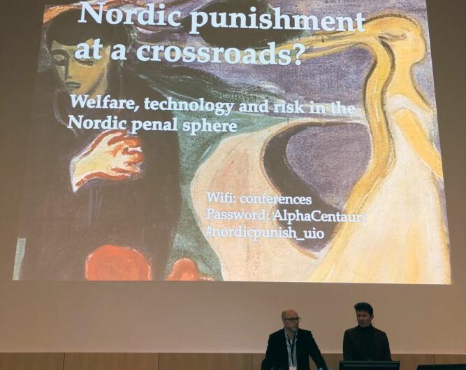 Fra konferansen i Oslo i forrige uke.