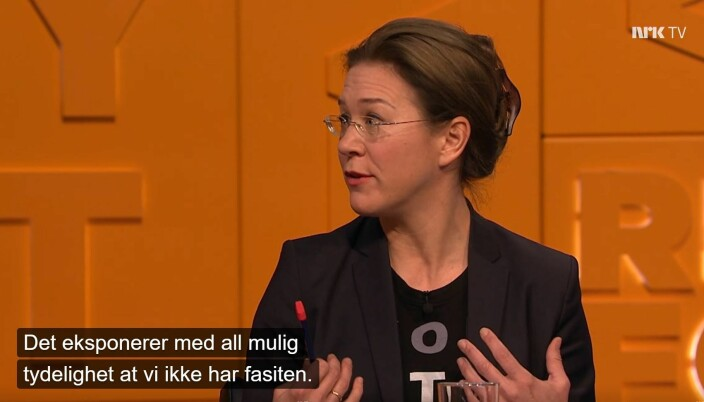 Sist helg var Anine Kierulf også en del av gullrekka da hun gjestet TV-programmet Nytt på nytt på NRK.