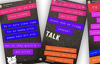 Informerer om familie-vold på Snapchat