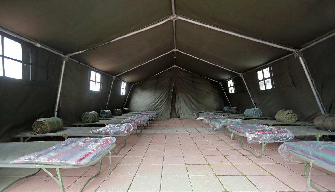 Ny forskrift skal gi myndighetene lov til å sette opp provisoriske bygg og for eksempel telt-leire.