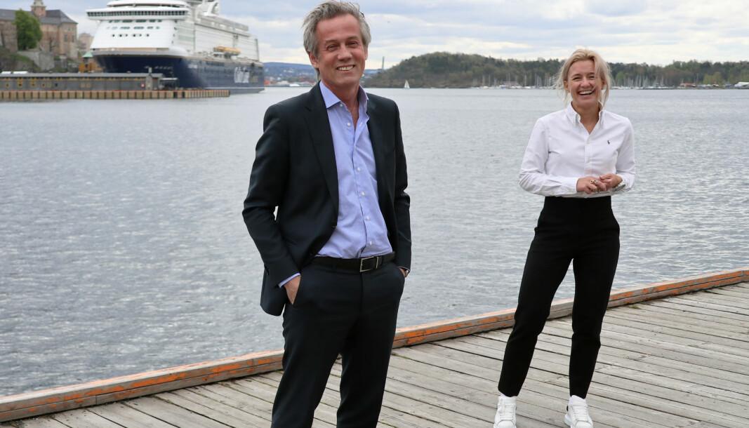 Managing partner Morten Goller og kommunikasjons- og markedsdirektør Christine Liæker Lindberg har grunn til å smile.