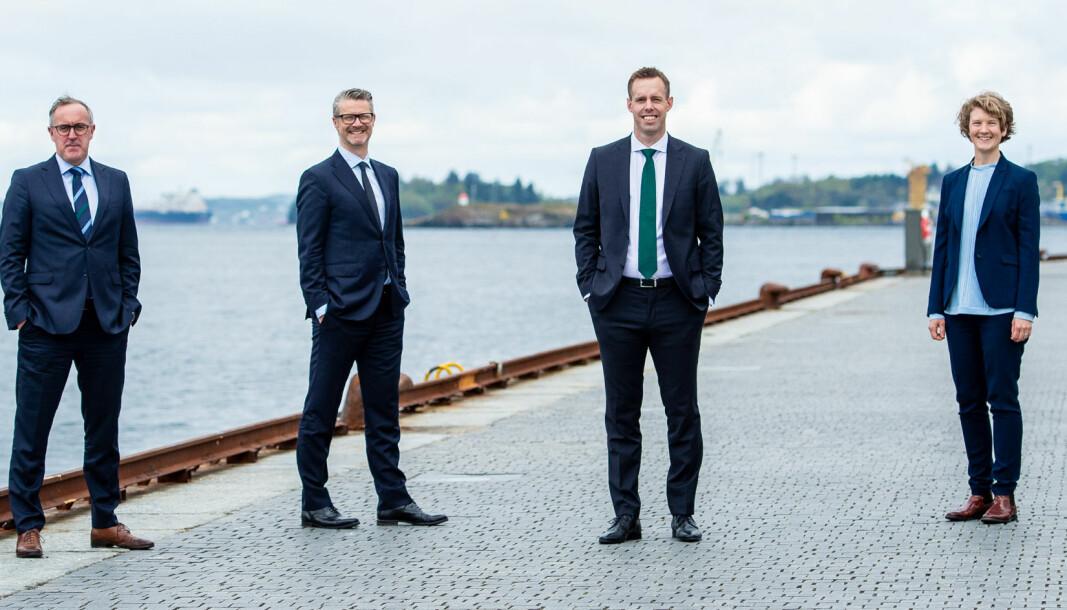 Audun Stornes, Thomas Abrahamsen, Jone Stakkestad og June Snemyr er nye partnere ved Thommesens nyetablerte Stavanger-kontor.