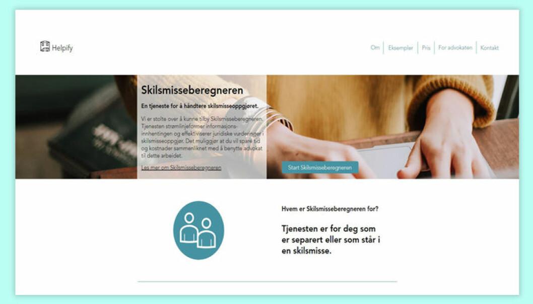 Marte Birkeland Deichman-Sørensen sier de har lagt vekt på enkelt og klart språk i utviklingen av skilsmisseberegneren slik at den kan brukes av hvem som helst.