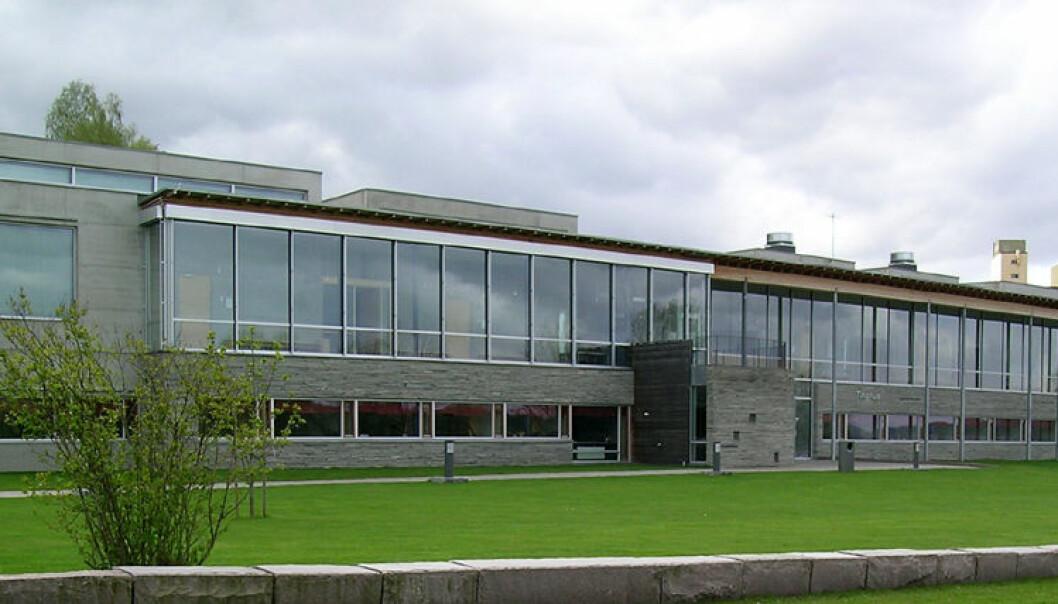 Øvre Romerike tingrett holder til her i Eidsvoll tinghus.