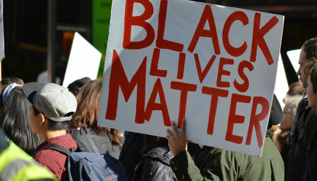 De siste ukene har det vært massive demonstrasjoner mot politivold mot minoriteter. Her fra en BLM-demonstasjon i 2016