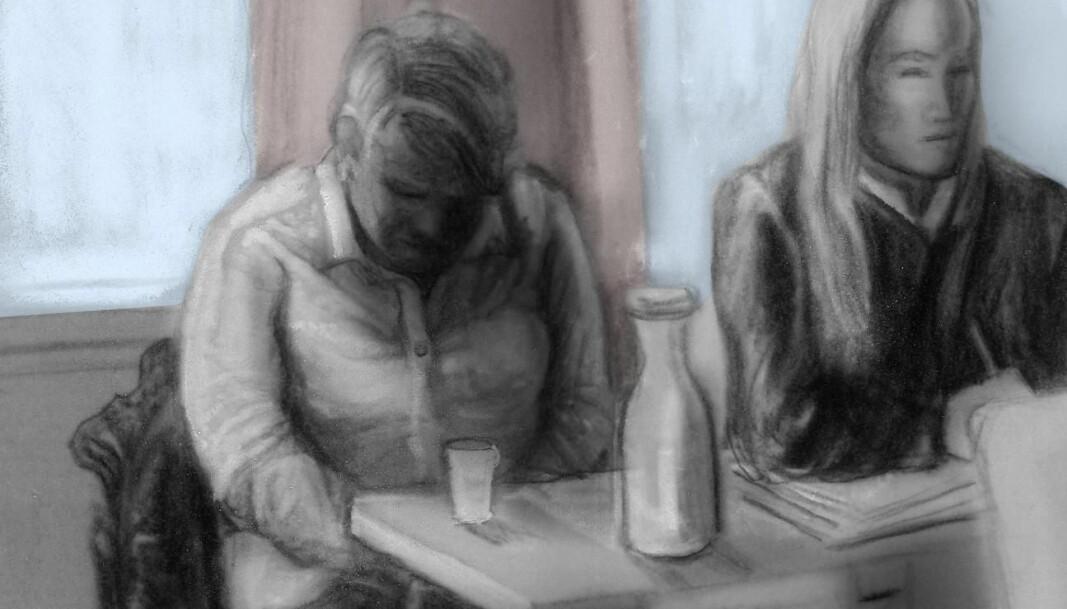 PEDOFILI: Den kvinnelige tiltalte i en rettssak mot et pedofilt nettverk i Drammen. Vedkommende var kjæresten til hovedtiltalte, og hadde latt ham begå overgrep mot barnet sitt. Overgrepene hadde blitt planlagt mens hun var gravid. Totalt fem personer var tiltalt for å ha begått overgrep mot både spedbarn og eldre barn. «(...) vi hadde ikke kommet noen vei. Noe skulle ha vært lært eller utrettet eller fullført fra saken i Drammen før vi gikk løs på en ny», skriver Hem om pressens dekning av nettverket.