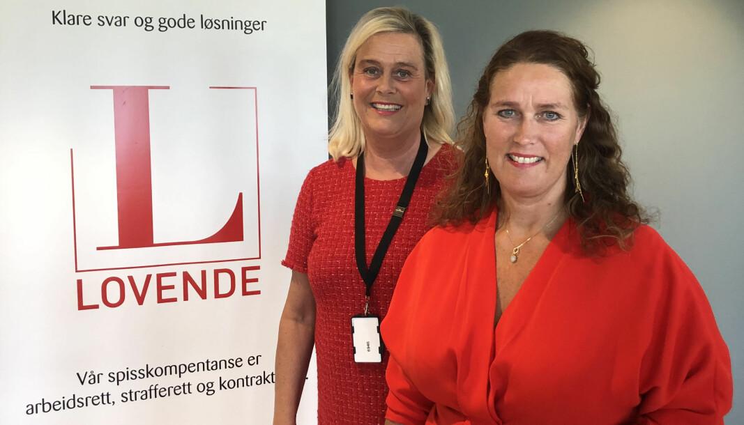 – Vi får mye skryt for navnet, forteller Heidi Lill Mollestad Oppegaard og Annicken Iversen i det nystartede advokatfellesskapet Lovende.